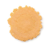 Top view of wheat crispbread