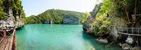 Panorama view Blue Lagoon (Emerald Lake)