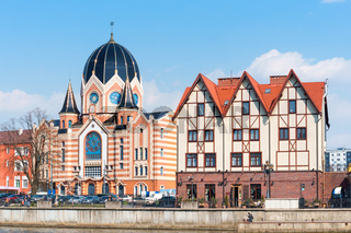 A new Liberal Synagogue, the architecture of the Fishing Village in Kaliningrad