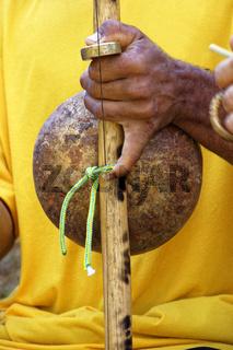 Brazilian musical instrument called berimbau