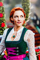 Portrait of a young woman in dirndl