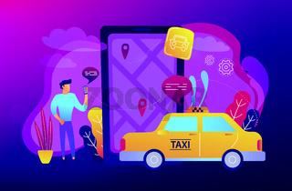 City navigation apps, smart city concept illustration.