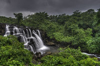 Savdav waterfall in monsoon, Kankavli, Maharashtra, India