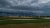 Roll cloud gathers to a storm in the sky