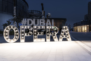 Dubai Opera Tag, United Arab Emirates, Middle East