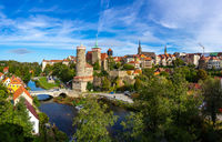 Bautzen. Germany. Panoramic view of the historic center of the old town.