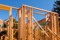 Wooden house residential construction home framing