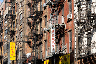 Buildings with Fire Escape in Chinatown, NYC
