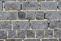 brick wall with cracked surface
