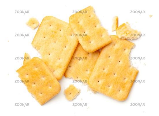 Crashed Crackers Isolated On White Background