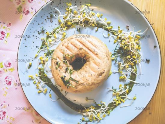 Bagel - Snack with soy seedlings
