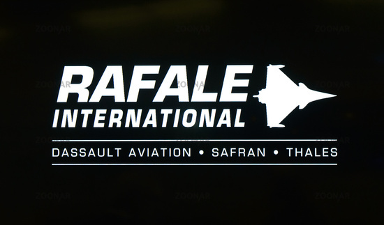 Logo of Rafale International, a business division of French aircraft manufacturer Dassault Aviation