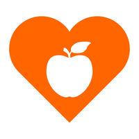 Apfel und Herz - Apple and heart