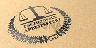 Kraft Paper Letter Emblem Fachanwalt Arbeitsrecht