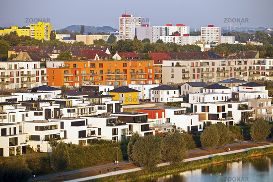 Residential development at the Phoenix lake, Dortmund, North Rhine-Westphalia, Germany, Europe