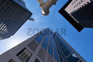 Bank oder Büro Gebäude als Hochhaus in Frankfurt