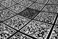 Abstract QR code background (abbreviated from Quick Response code)