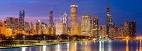 Chicago downtown and Lake Michigan Panorama