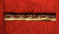 Details from authentic Bulgarian and North Macedonian folk costumes.  Authentic folk-style details