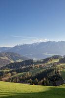 Panorama of Mountains in European Alps, Austria