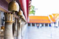 Holy bell at Thai Marble Temple (Wat Benchamabophit Dusitvanaram) in Bangkok, Thailand