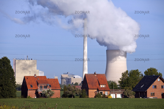 Heyden Power Station, Petershagen, East Westphalia, North Rhine-Westphalia, Germany Europe