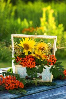 Sommerblumengesteck