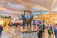 New Istanbul Airport, hall decorations and landmarks
