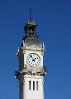 Edificio Del Reloj. Clock tower at the harbour of Valencia.