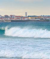View Peniche ocean town Portugal