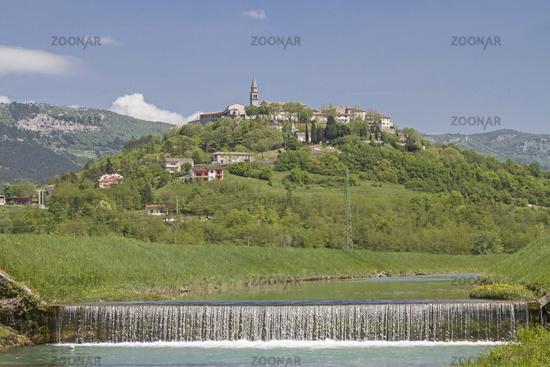 Buzet on the Mirna in Istria