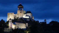Castle Trencin in a balmy summer night