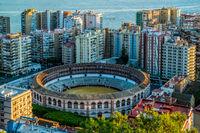 Bullfight arena, Malaga city, Spain
