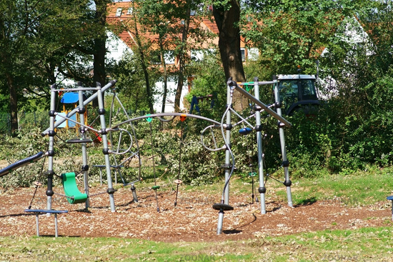 Playground with climbing course