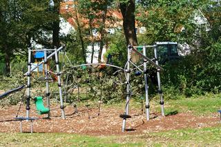 Spielplatz mit Kletterparcour
