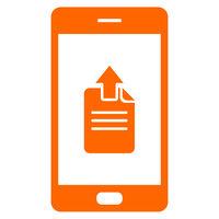 Upload und Smartphone - Document upload and smartphone