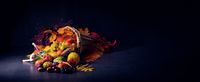 The beautiful and autumnal cornucopia