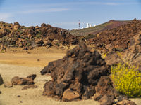 Telescopes of the Izana astronomical observatory on Teide park, Tenerife, Spain