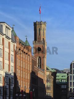 Hamburg - Turm der alten Post, Deutschland