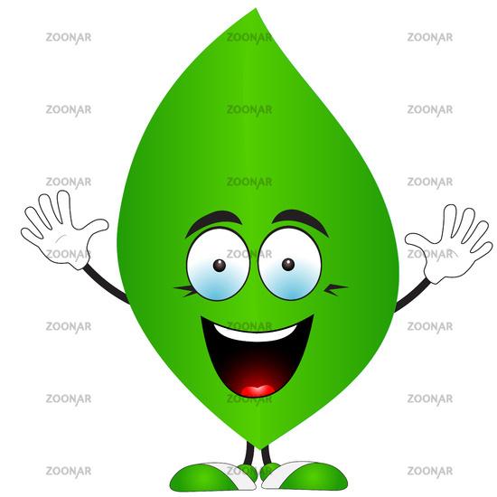 Smiling green leaf