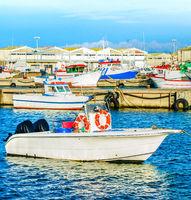 Peniche harbor, fishing boats, docks
