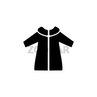 Rain coat. Isolated icon. Fall and winter vector illustration