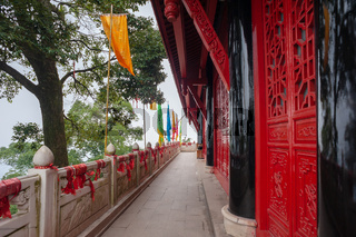 LaoJunGe taoist temple at the top of QingChengShan mountain