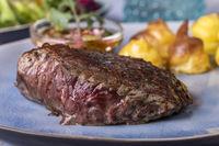 Steak mit Herzoginkartoffel