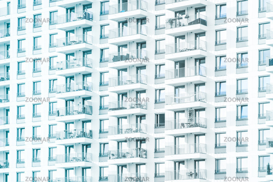 modern apartment building facade for real estate business background -