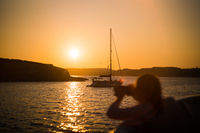 Malta Sailing Ocean Sunset Landscape Orange Sky Water