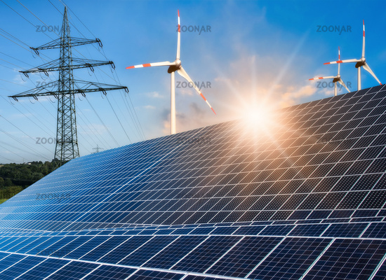 Photovoltaic system, wind turbine and power pole