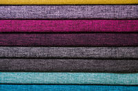 Abstract volumetric background textile multicolored stripes of furniture upholstery patterns. Home comfort concept