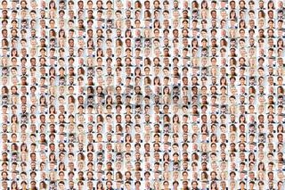 Viele Leute als Business Team Gruppe