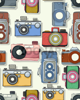 Retro style camera pattern
